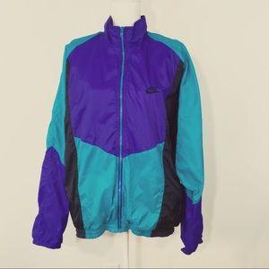 Nike Vintage Windbreaker Purple Black Teal Jacket